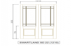 Rectangle Design double Side open door block detail
