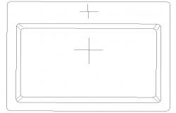 Rectangle Type Basin Block DWG File