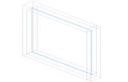 Rectangular window frame detail