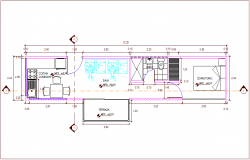Recycled ocean container housing plan  dwg file