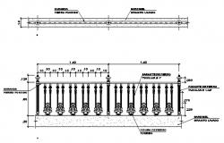 Reeling plan and elevation detail dwg file