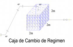 Regime change box isometric view detail dwg file