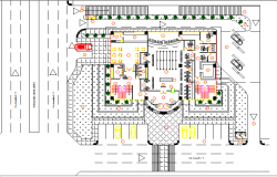 Regional bank building architecture layout plan details dwg file