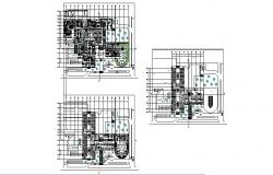 Regional hospital floor plan layout cad drawing details dwg file