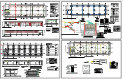 Regional school architecture project details dwg file
