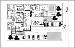 Rehabilitation unit plan dwg file