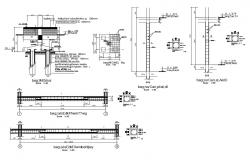 Reinforced beam and column constructive structure details dwg file