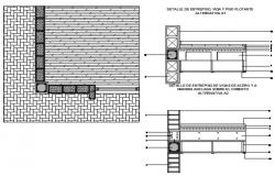 Reinforced concrete slab with bricks and blocks