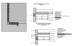 Reinforced concrete slab with bricks and blocks design drawing