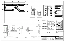 Reinforcement plan and section working detail dwg file