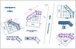 Religion church architecture project details dwg file