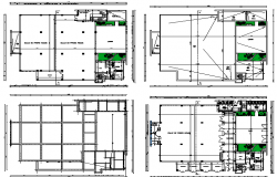 Religious city mosque floor plan details dwg file