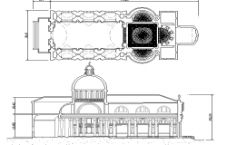 Religious mosque architecture project dwg file