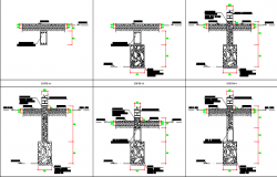 Remodeling and expansion of university , construction plan dwg file