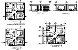Remodeling of medical clinic plan detail dwg file
