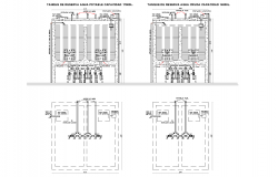 Reserve tank plan detail dwg file,