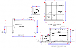 Reservoir plan and section autocad file