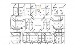 Residence Area CAD plan 2d Drawing
