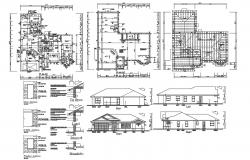 Residence House Design Construction Plan