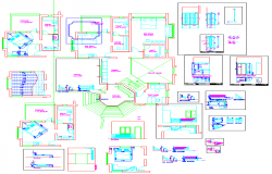 Residence Interior Design dwg file