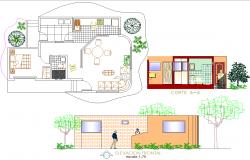 Residence Layout plan dwg file.