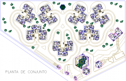 Residence Township Layout plan dwg file