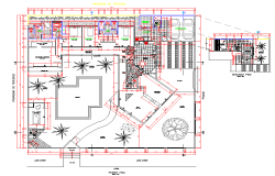 Residence house plan autocad file