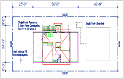 Residence plan view details dwg file