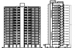 Residency Flats Design and Elevation dwg file