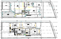 Residency House Elevation and Section details dwg file