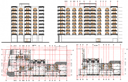 Residential Apartment Layout plan and Elevation design