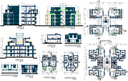 Residential Apartment Project with detailing dwg file