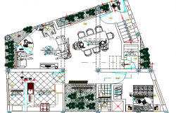 Residential Building Design and Structure Details dwg file