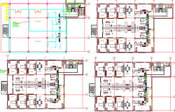 Residential Building Five Levels Structure Details dwg file