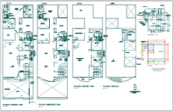 Residential Building plan view detail dwg file