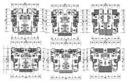 Residential Furnished Apartment AutoCAD Drawing