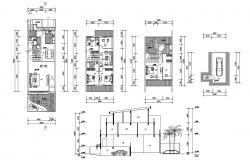 Residential Furnished Bungalow Design Architecture Plan