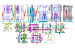 Residential High Rise Building Detail in cad file