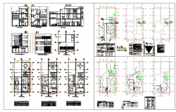 Residential House Architecture Plan & Elevation detail