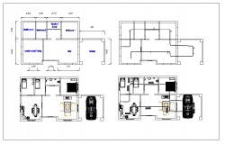Residential House Design dwg file