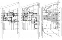 Residential House Plan AutoCAD File