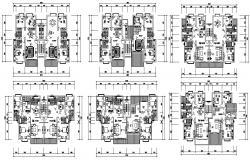 Residential Two BHK Apartment Furniture Layout Plan