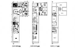 Residential apartment building floor plan layout cad drawing details dwg file