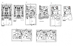 Residential apartment flat structure detail 2d view construction plan layout dwg file
