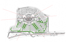 Residential area plan detail 2d view autocad file