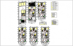 Residential building apartment plan layout view of structure dwg file