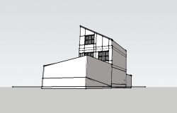Residential building detail 3d model Sketch-up file