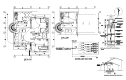 Residential building earthing wire connection detail layout plan