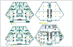 Residential building floor plan detail view dwg file