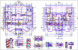 Residential building plan view, sectional detai & dimension dwg file